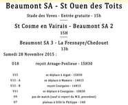 Agenda Sportif 28-29 Novembre 2015