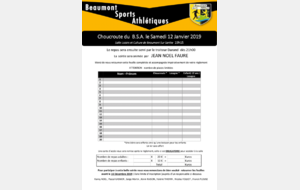 Bulletin d'inscription de la Choucroute du BSA