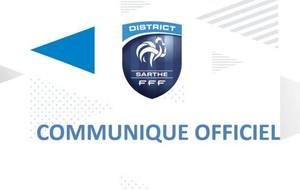 Communiqué Officiel du District de la Sarthe