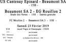 Agenda Sportif  :  23/24 Février 2019