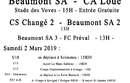 Agenda Sportif  :  2/3 Mars 2019