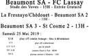Agenda Sportif  :  25/26 Mai 2019